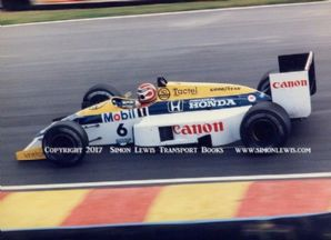 Williams FW11 Honda Turbo.Photo. Nelson Piquet.1986 British GP Brands Hatch